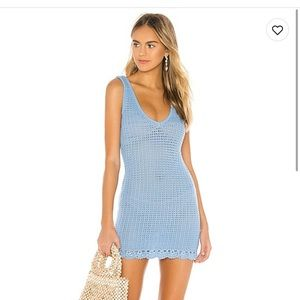 Tularosa blue crochet dress